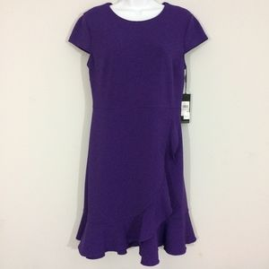 Karl Lagerfeld Womens Sz 6 Purple Midi Dress BNWT